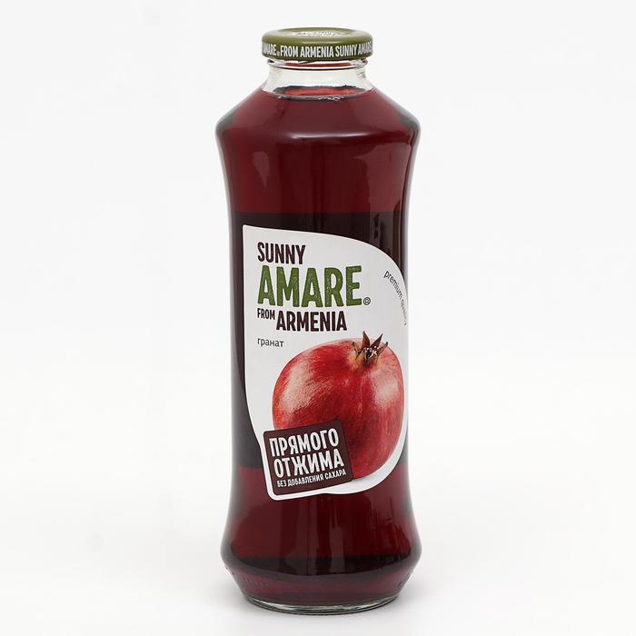 Гранатовый сок прямого отжима SUNNY AMARE без сахара, 750 мл