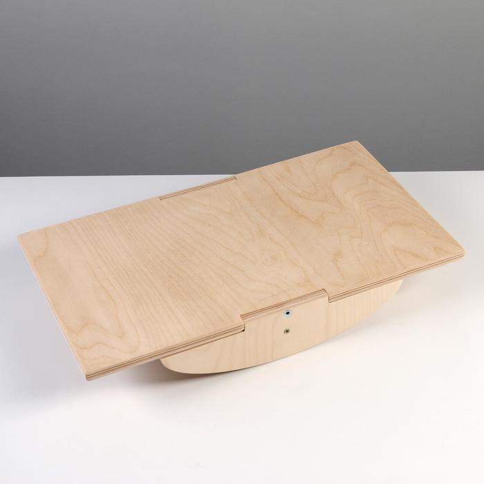 Доска балансировочная балансборд, прямоугольный, 45х25 см