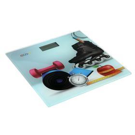 Весы напольные Econ ECO-BS012, электронные, до 150 кг, 2хCR2032, стекло, рисунок