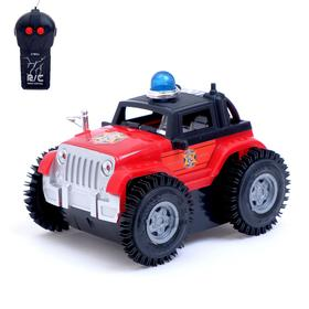 Машина перевёртыш радиоуправляемая «Полиция», работает от батареек, цвет красный