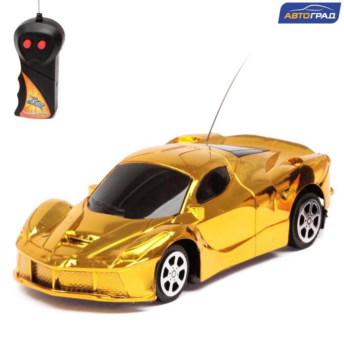 Машина радиоуправляемая Шоукар, работает от батареек, цвет жёлтый