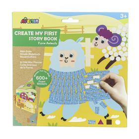 Картина из пиксельной мозаики для малышей «Ферма»