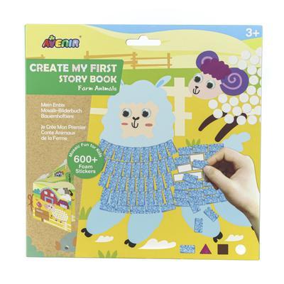 Картина из пиксельной мозаики для малышей «Ферма» - Фото 1