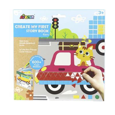 Картина из пиксельной мозаики для малышей «Машины» - Фото 1