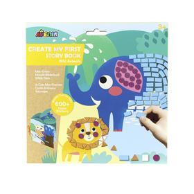 Картина из пиксельной мозаики для малышей «Дикие Животные»