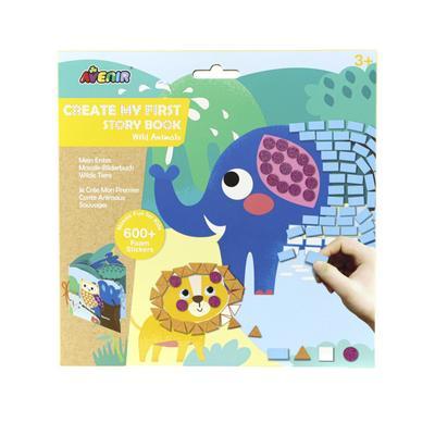 Картина из пиксельной мозаики для малышей «Дикие Животные» - Фото 1