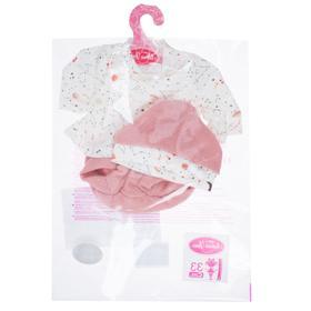 Комплект с вязаной розовой шапочкой, для кукол высотой 33 см