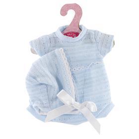 Комплект одежды вязаный голубой, для кукол высотой 33см
