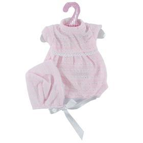 Комплект вязаный розовый для кукол высотой 33см
