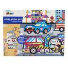 Картина из пиксельной мозаики «Транспорт» - Фото 1