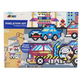 Картина из пиксельной мозаики «Транспорт»