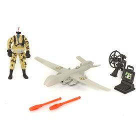 Игровой набор «Солдат с самолетом-беспилотником»