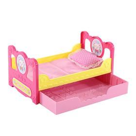 Кровать с ящиком для куклы Мелл