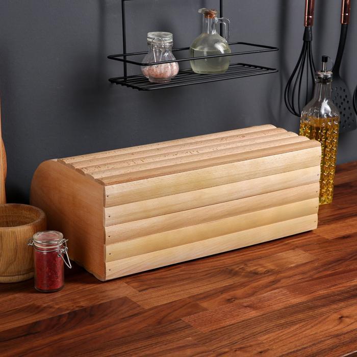 """Хлебница деревянная """"Эко-стиль"""", 45 см, массив бука"""