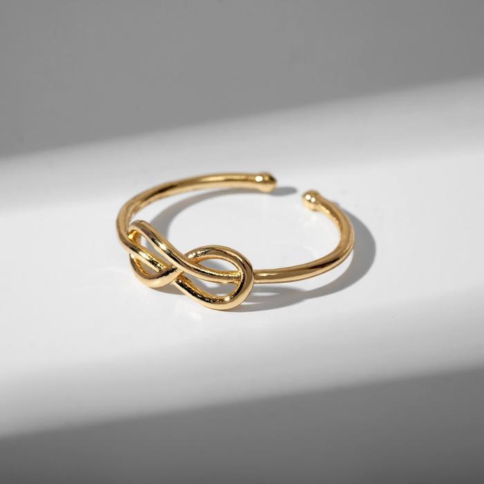 """Кольцо """"Бесконечность"""" тренд, цвет белый в золоте, безразмерное"""
