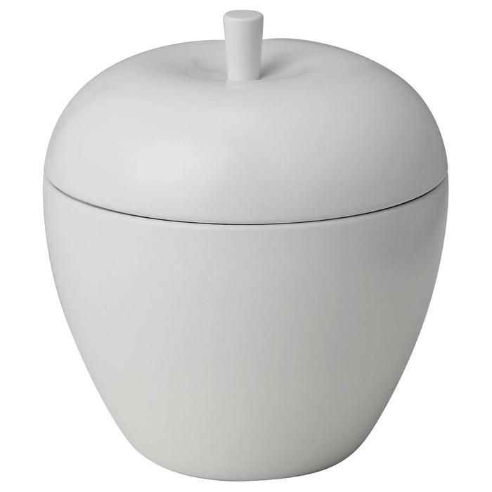 Ароматическая свеча АНСПРОКСЛЁС, яблоко и груша, 9 см, цвет белый