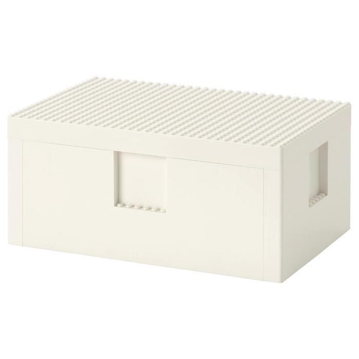 LEGO® контейнер с крышкой БЮГГЛЕК, 26 x 18 x 12 см, цвет белый