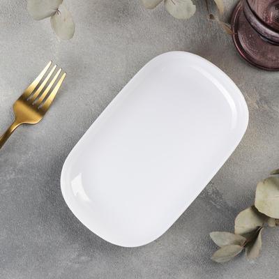 Блюдо прямоугольное «Селина», 18×11,2×1,8 см, цвет белый - Фото 1