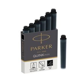 Набор картриджей для перьевой ручки Parker Quink Mini Cartridges Z17, чёрные чернила (1950407)