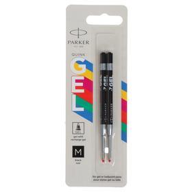 Стержни для гелевой ручки 2 штуки Parker Quink GEL Z10 М, 0.7 мм, чёрные чернила, в блистере, 100 мм (2136231)