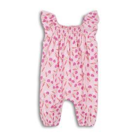 Комбинезон для девочки, размер 12-18 месяцев, цвет розовый