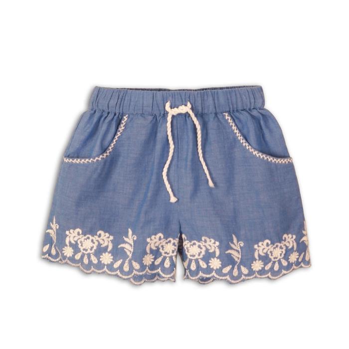 Шорты для девочки, размер 6-7 лет, цвет голубой