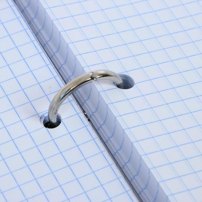 Тетрадь на кольцах, 160 листов в клетку Diffraction, твёрдая обложка, матовая ламинация, со сменным блоком, блок офсет