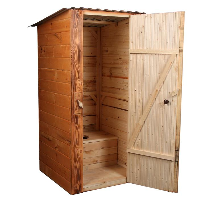 """Туалет разборный """"МегаЭконом"""" со стульчаком, вагонка х/п 12,5мм 3-го сорта"""