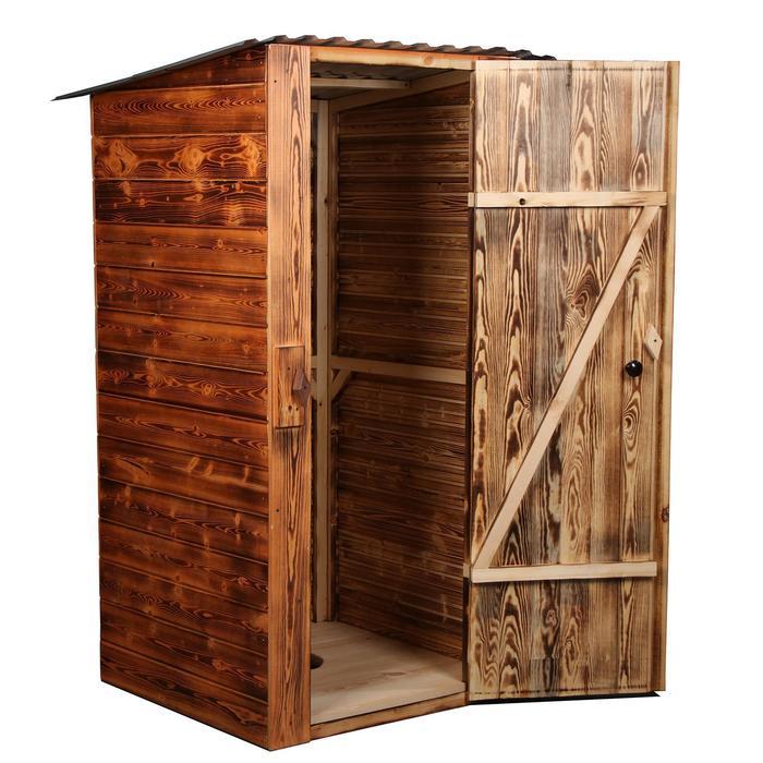 """Туалет разборный """"Эконом"""" без стульчака, вагонка с обжигом 2 стороны, 12,5мм 1 и 2-го сорта"""