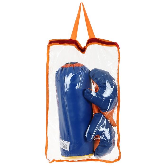Набор для бокса детский №1 IDEAL, перчатки+груша, цвета микс