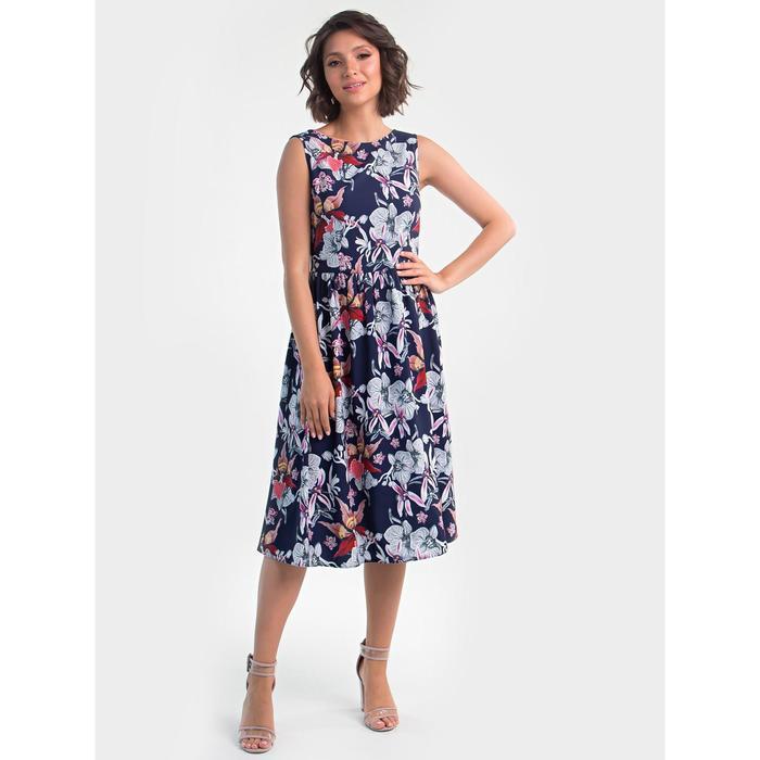 Платье женское, размер 42, цвет синий