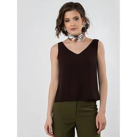 Блузка женская, размер 42, цвет тёмно-коричневый