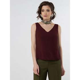 Блузка женская, размер 42, цвет бордовый