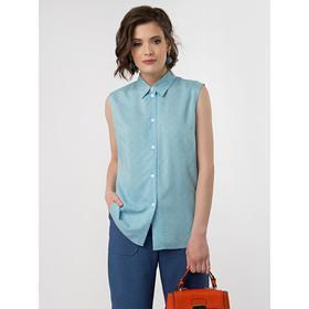 Блузка женская, размер 42, цвет голубой, белый