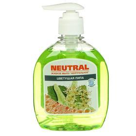 Жидкое мыло нейтральное, липа, с дозатором, 300 мл