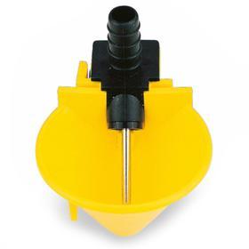 Поилка чашечная диаметр 52 мм, пластик с креплением на сетку