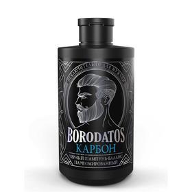 """Черный шампунь-баланс Borodatos """"Карбон"""", 400 мл"""