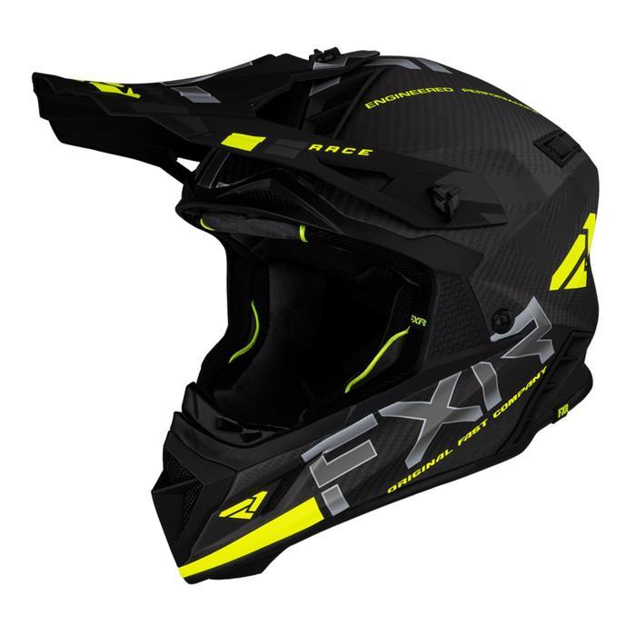 Шлем FXR Helium Carbon размер L, цвет черный, серый, желтый