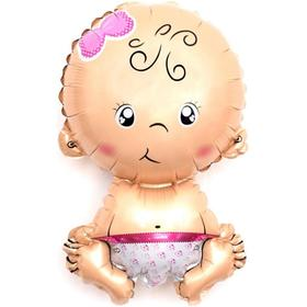 Шар фольгированный 16' мини-фигура «Малышка-девочка», с клапаном Ош