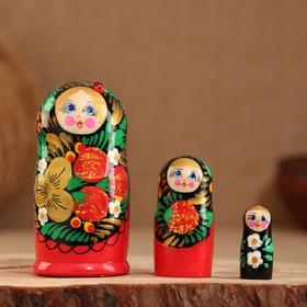 """Матрёшка 3-х кукольная """"Яна"""" 11 см, ручная роспись"""