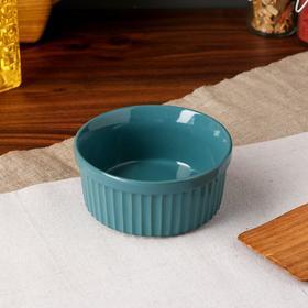 """Форма для выпечки """"Рамекин"""", изумрудный цвет, керамика, 0.25 л"""