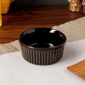 """Форма для выпечки """"Рамекин"""", черный цвет, керамика, 0.25 л"""