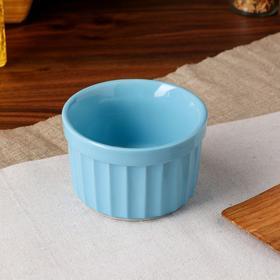 "Форма для выпечки ""Рамекин"", голубой цвет, керамика, 0.2 л"