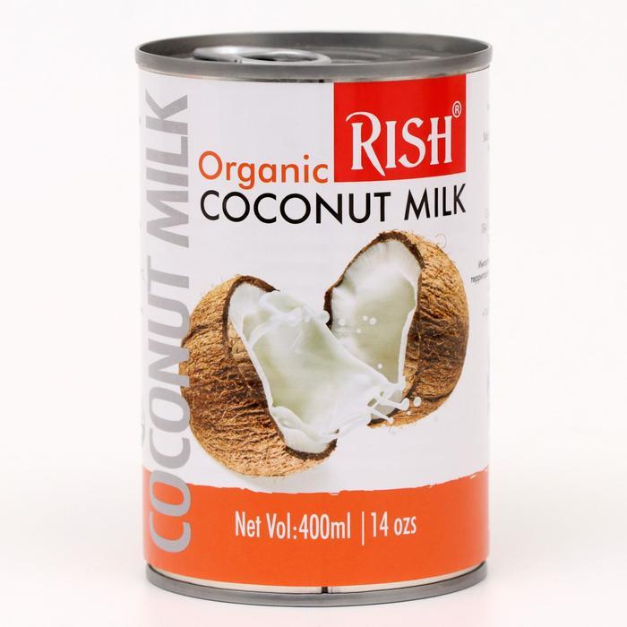 Органическое кокосовое молоко Rish 68%, 225 мл (жирность 17-19%)