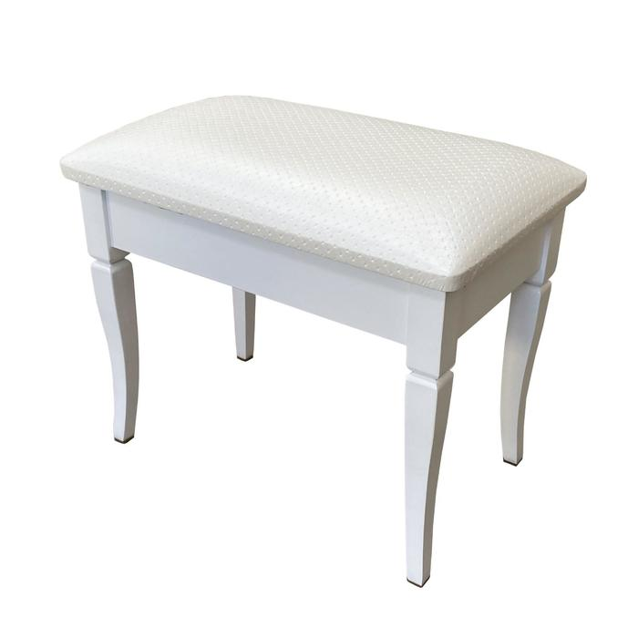 Банкетка «Прованс», 535 × 335 × 450 мм, цвет белый пунто / белый