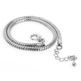 Основа-браслет универсальный 23 см, цвет серебро Ош
