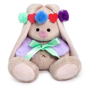 Мягкая игрушка «Зайка Ми в лиловом воротничке», 15 см