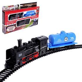 Железная дорога «Ретро», свет, работает от батареек, МИКС