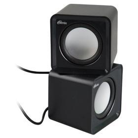 Компьютерные колонки RITMIX SP-2020, 5 Вт, USB, черные Ош