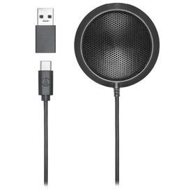 Микрофон AUDIO-TECHNICA ATR4697-USB, 50–15000 Гц, USB, Type-C, 1.5 м, черный Ош